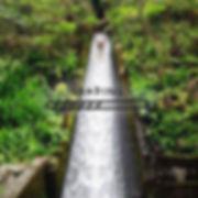 Arta Citko water-sliding in Bali