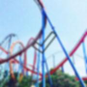 Arta Citko in rollercoaster in Spain