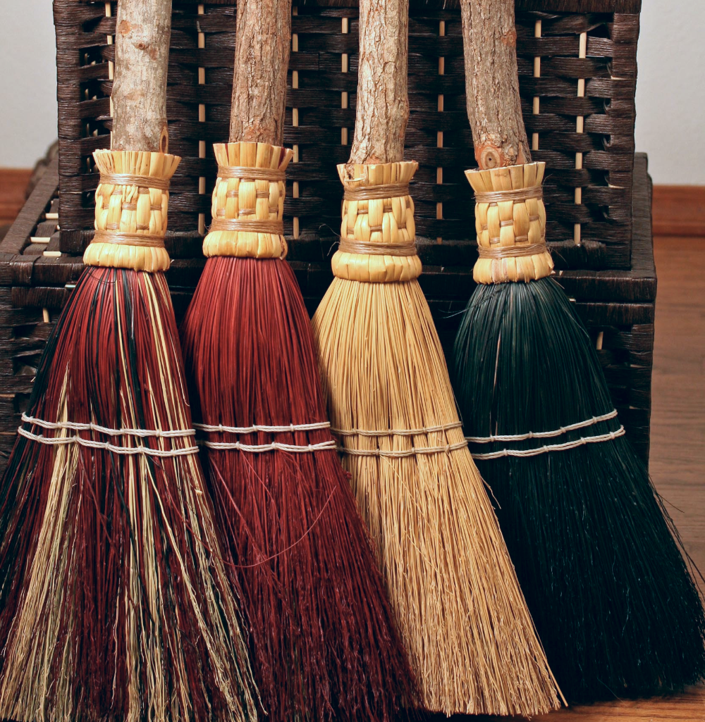 handmade brooms besoms for function ritual weddings hearth brooms