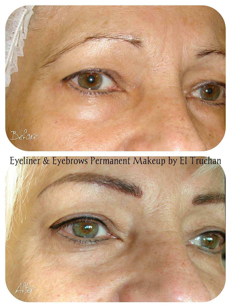 Microblading permanent makeup eyebrows tattoo by el for Eyebrow tattoo microblading