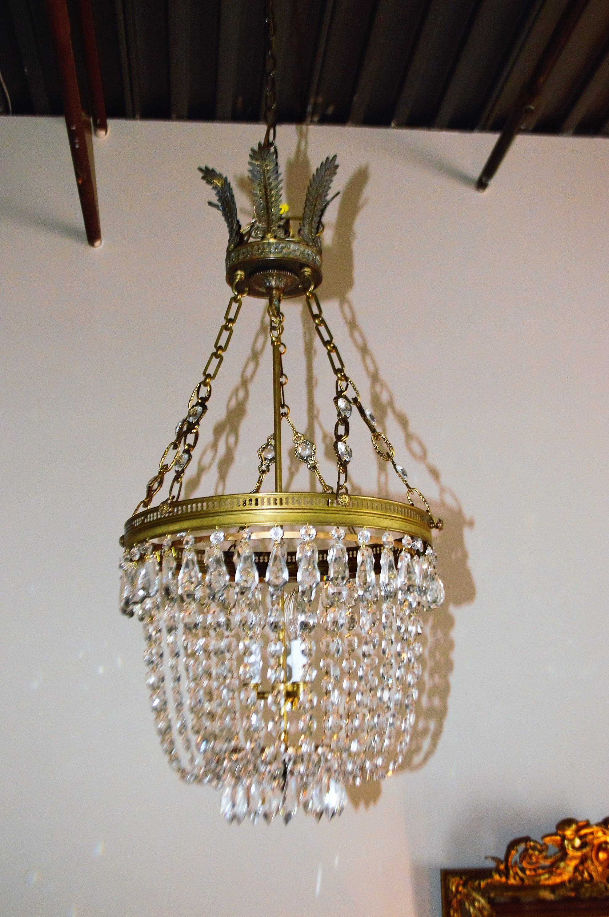 French Antiques Toronto Antiques Italian Basket Style Chandelier