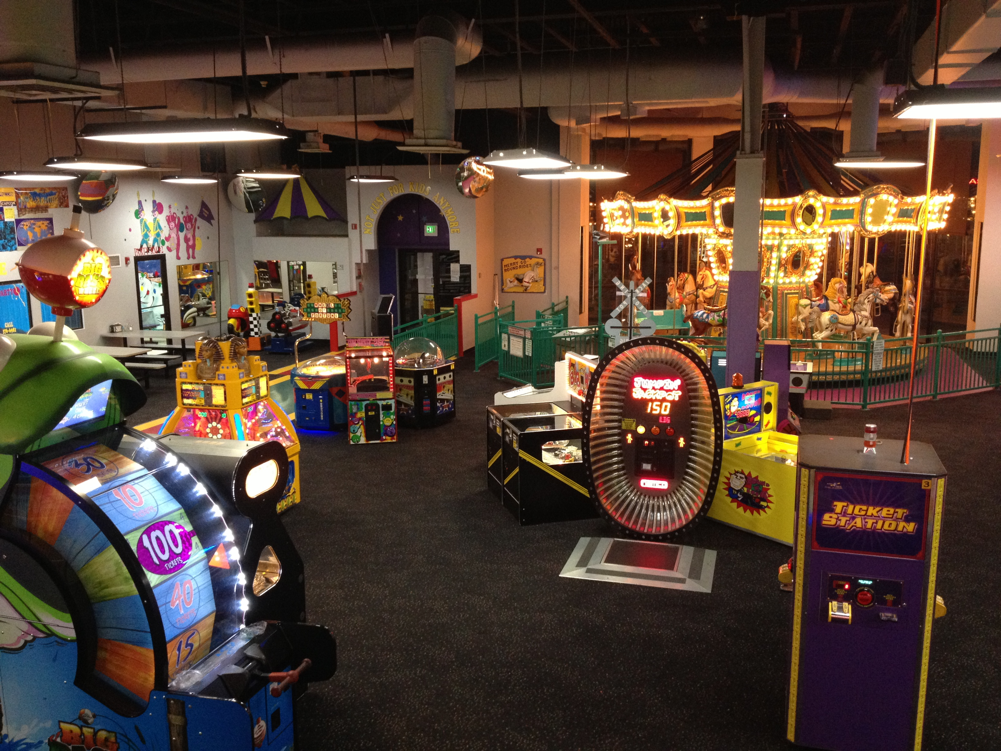 Chuck E. Cheese, where a kid can be a kid or get a