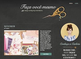 Blog Faça Você Mesmo Template - Este lindo template é fácil de personalizar e atualizar. Compartilhe as suas inspirações artesanais através da criação de textos, fotos e vídeos. Dê ao seu blog seu próprio estilo e personalize o esquema de cores. Comece a editar agora e aumente o seu número de seguidores!