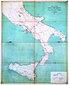 antica cartina dell800 che segnala gli edifici dove erano installate le vedette