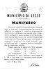 manifesto Lecce 1874