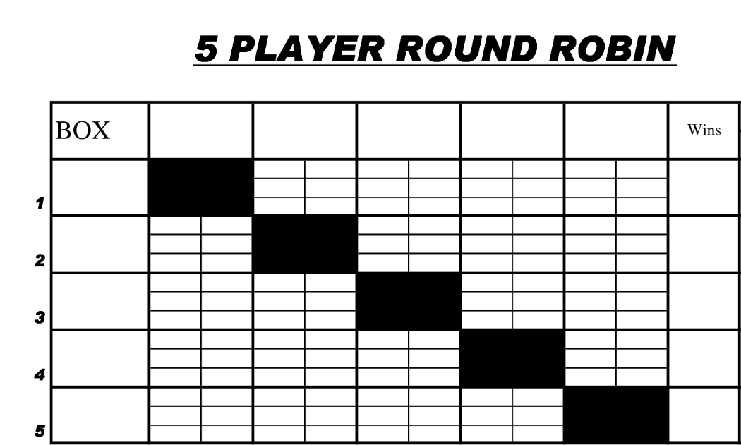 6 team draw template - last round robin of the year uc davis table tennis club