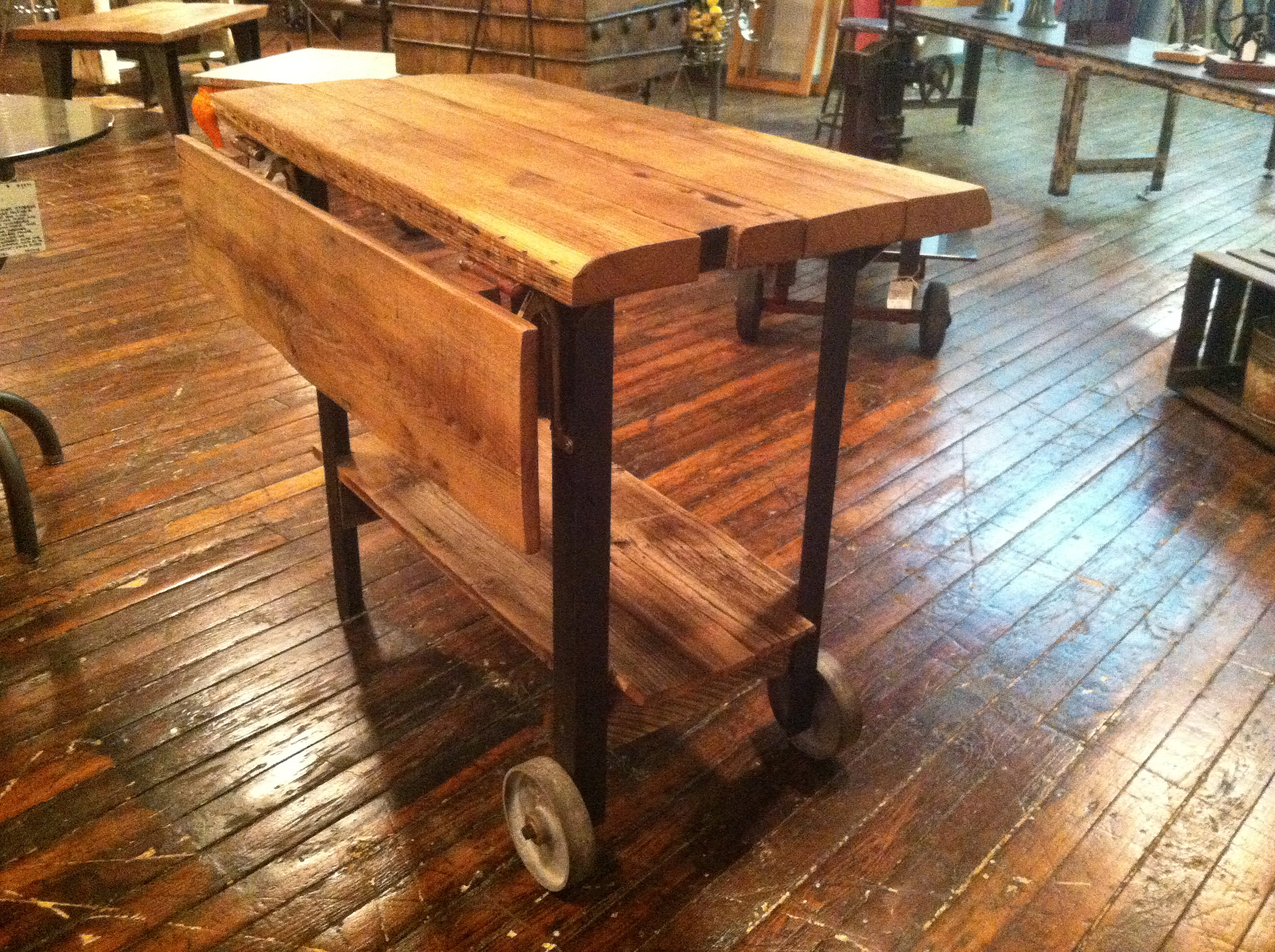 Reworx Collective | Drop Leaf Island Live Edge Table