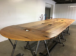 Conference table made with reclaimed wood for KPMG