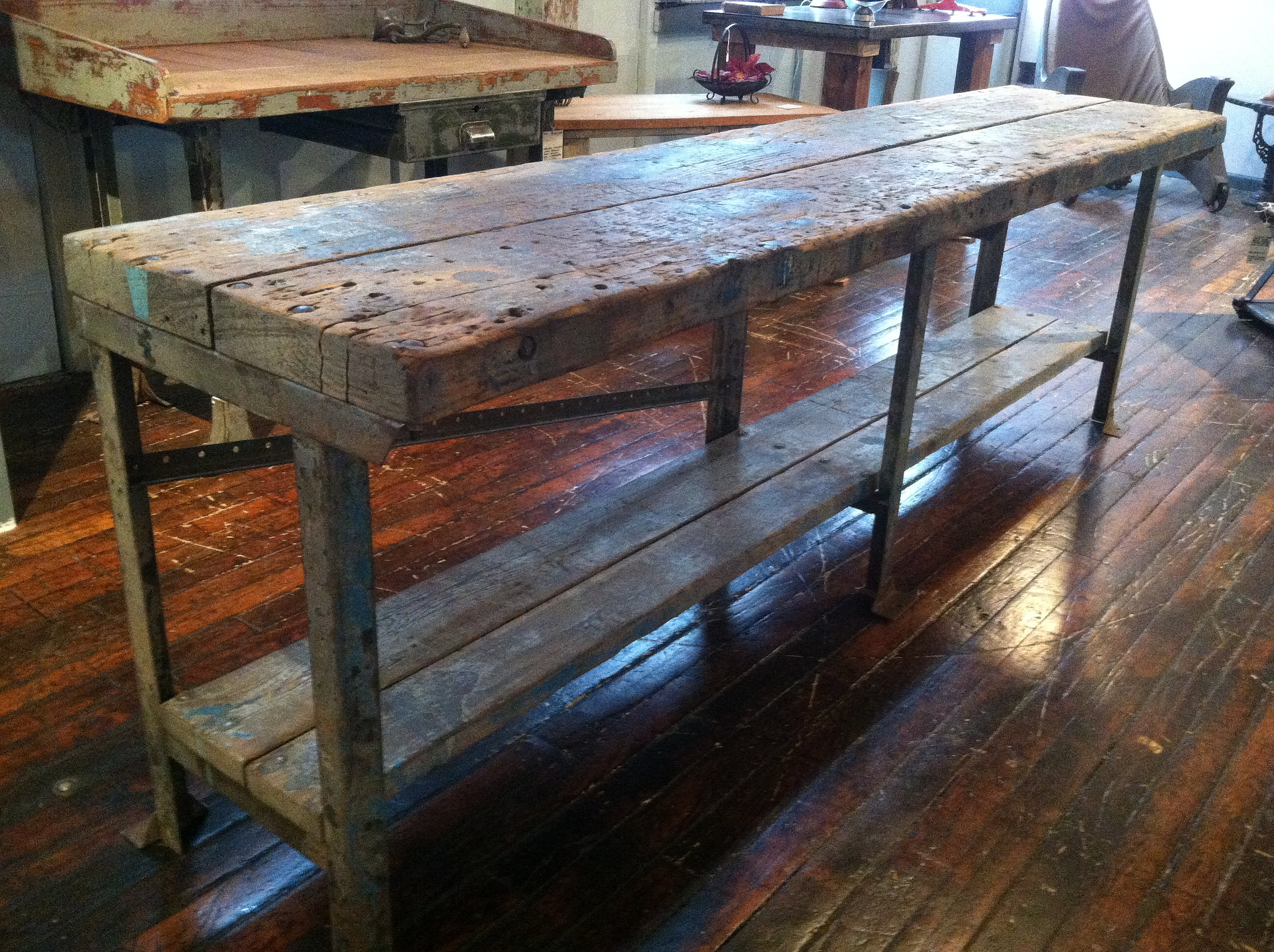 Reworx Collective Furniture Maker | Rescued work bench