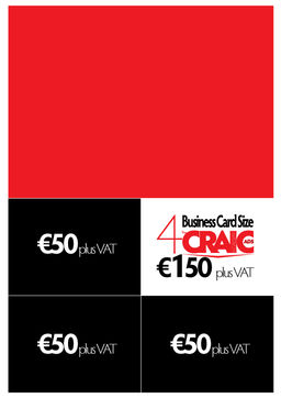 1 business card size ads the craic in galway no 1 for Business card size ad