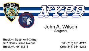 Code 3 products linen business cards for Nypd business cards