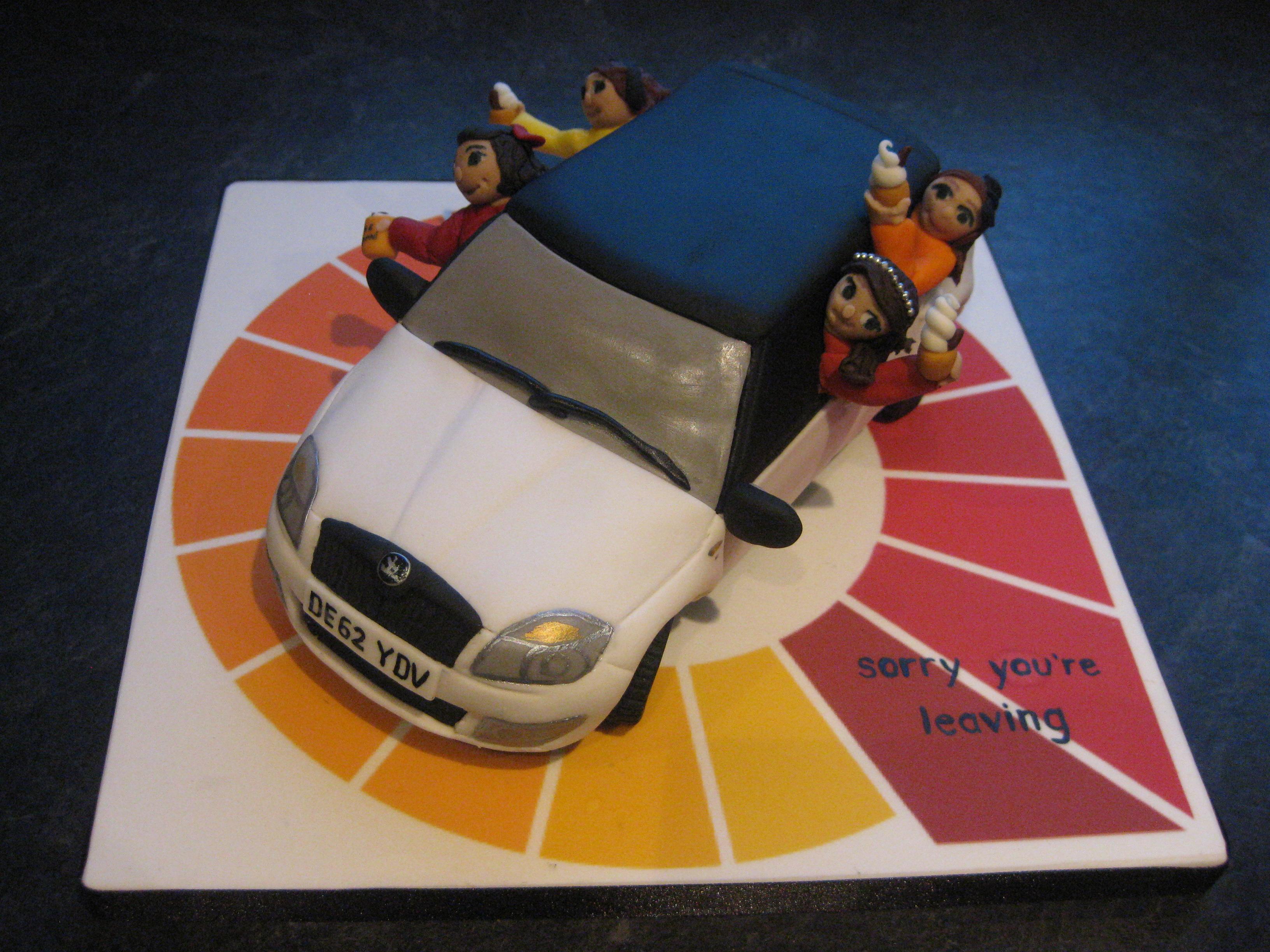 Skoda Fabia Girls miCake bespoke cakes for private corporate