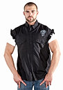 Denim and Leather Biker Shirts