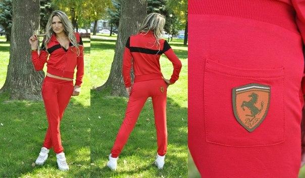 Спортивный Костюм Ferrari Женский Доставка