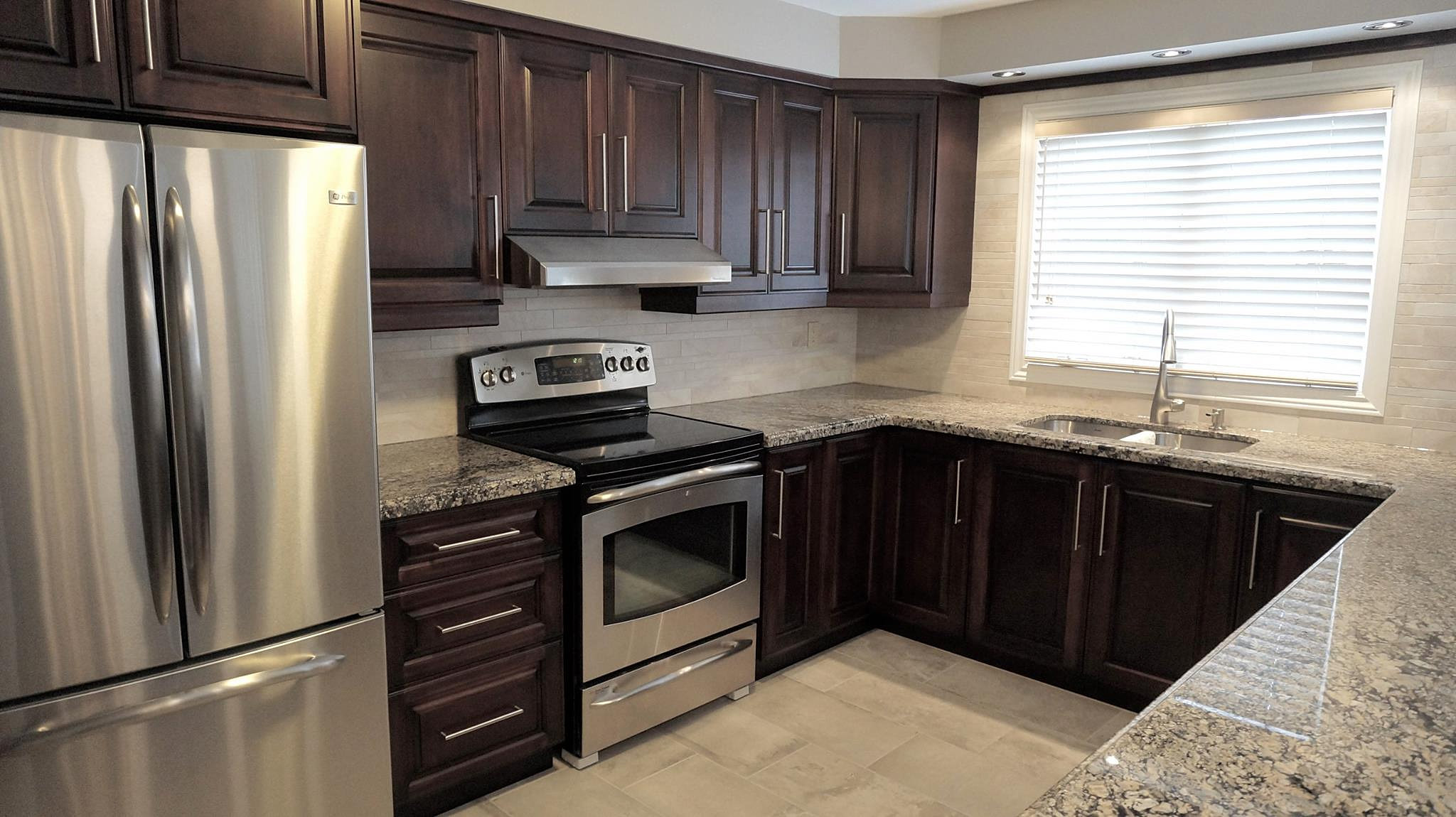 Well built custom cabinets maple espresso kitchen for A 1 custom cabinets