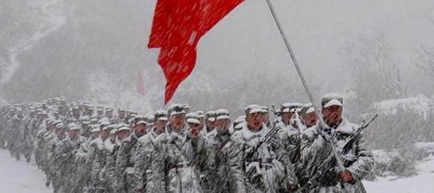 a history of the long march of the red army of china Soldiers attend a memorial ceremony commemorating the 80th anniversary of the victory of the long march by the red army in xing'an county of guilin city, south china's guangxi zhuang autonomous region, oct 18, 2016.
