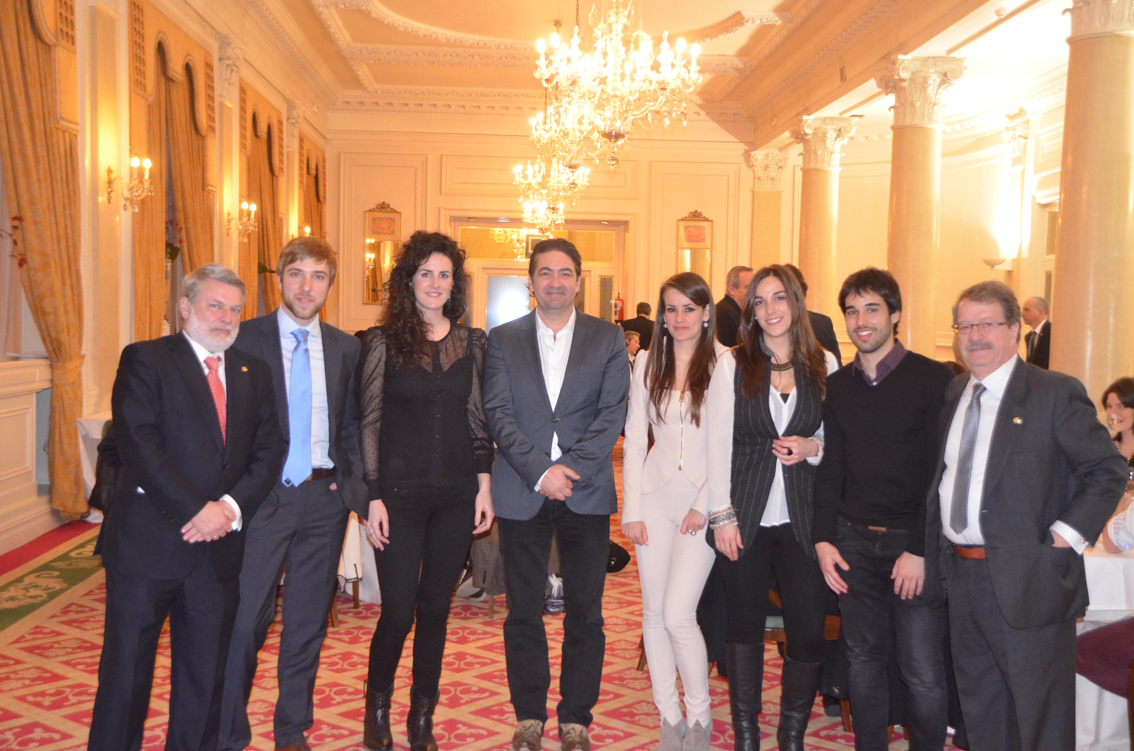 el equipo de edibita acude a la cena del coavn con motivo de la fiesta patronal edibita empresa y de en bilbao bizkaia