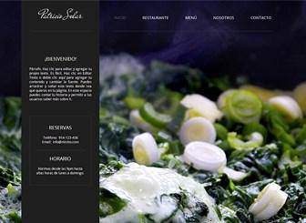 Sitio de restaurante Template - Llama la atención de los amantes de la comida con el tentador fondo y el diseño dinámico de esta plantilla web gratis. Agrega un atractivo menú y sube fotos para mostrar tus suntuosas creaciones. Personaliza el color y el diseño para representar la experiencia culinaria de tu establecimiento.