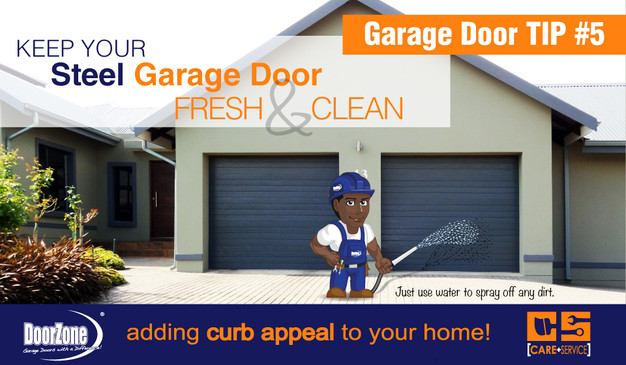 Wash your door doorzone garage door manufacturers for Door zone garage doors