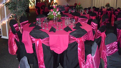 garciascatering | GALLERY & Pink And Black Table Settings] Table Setting Hot Pink And Black ...
