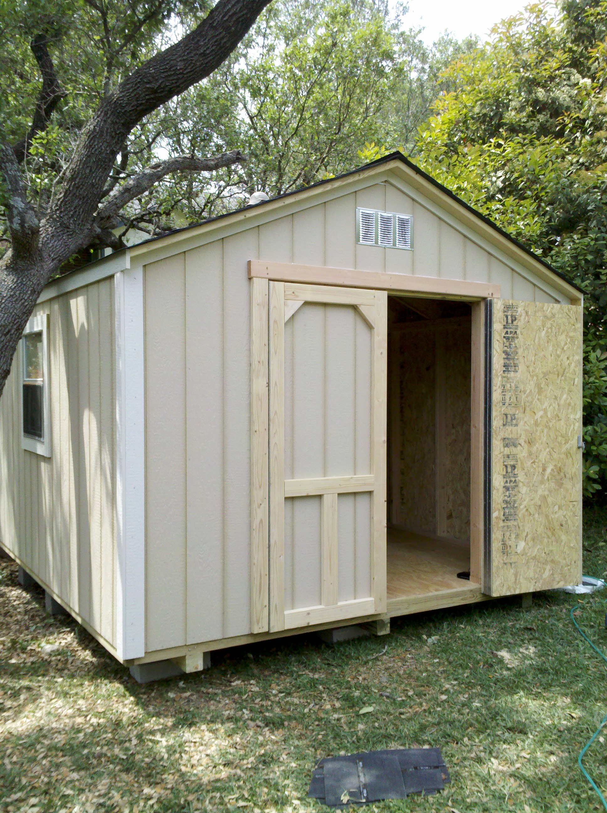 Backyard barns wood storage sheds san antonio texas for Garden shed 10x10