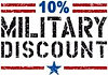 10% Military Discount for all active service personel