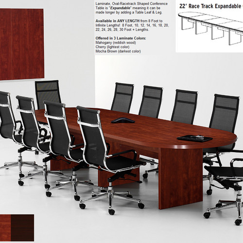 Expandable Conference Tables In Collection - 8 foot conference room table