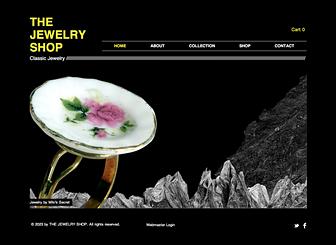 Vintage Jewelry Website Template | WIX