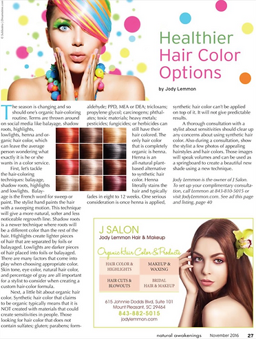 Healthier Hair Color Options | J SALON - Jody Lemmon Hair Stylist ...