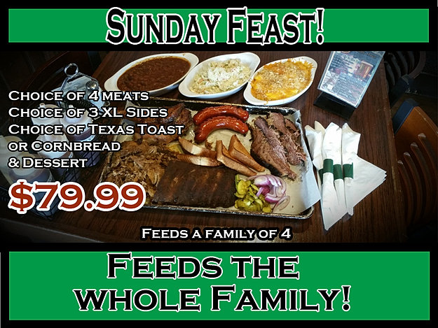 Hogs Hollow Sunday Feast
