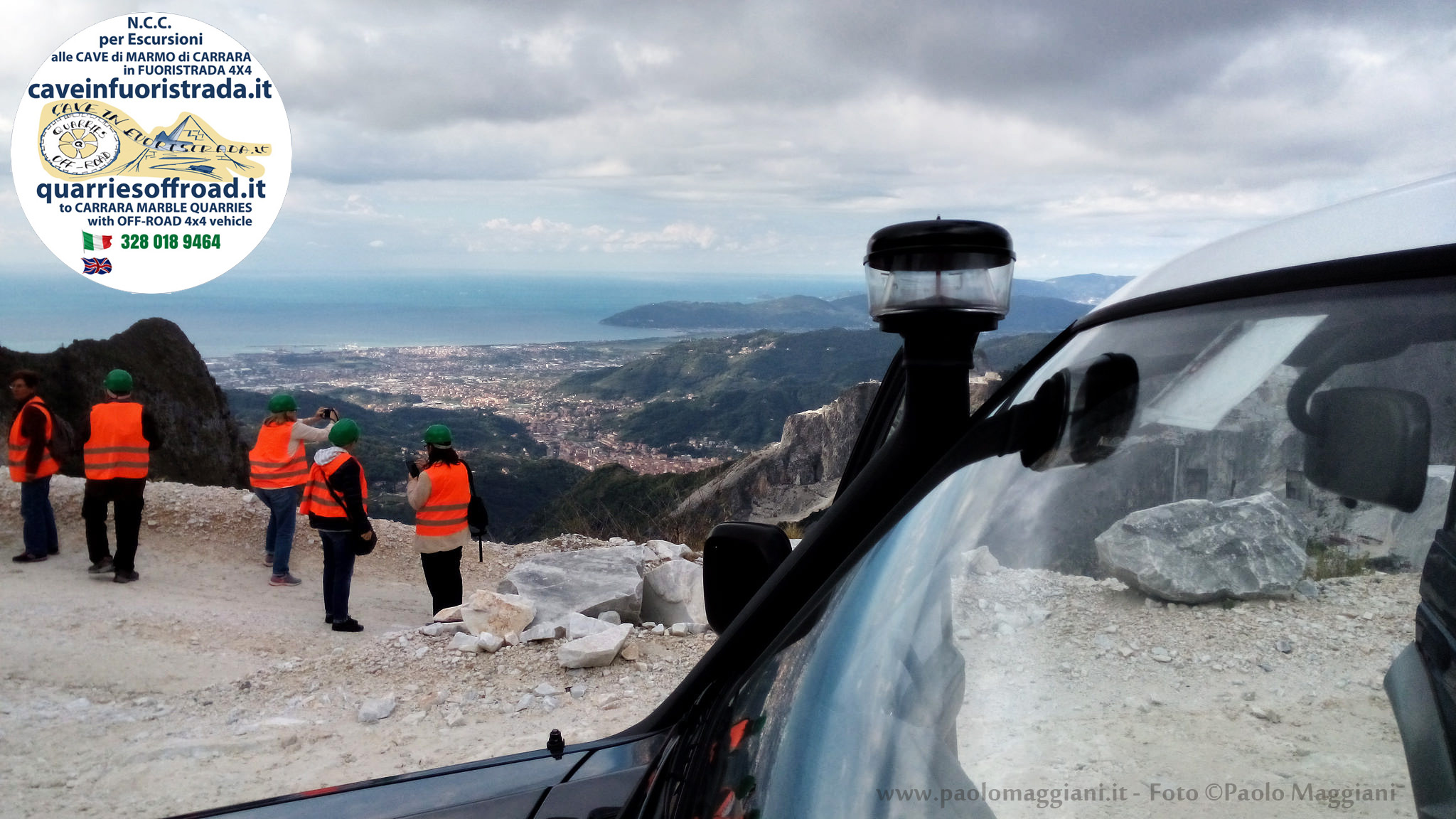 Carrara marble tour 4×4