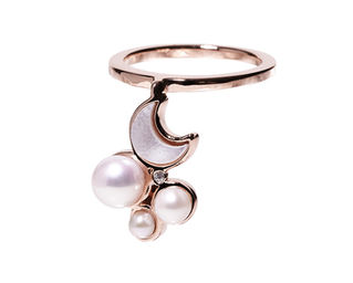 Gold Philosophy: MIDNIGHT CRESCENT RING   Jewelry,Jewelry > Rings -  Hiphunters Shop