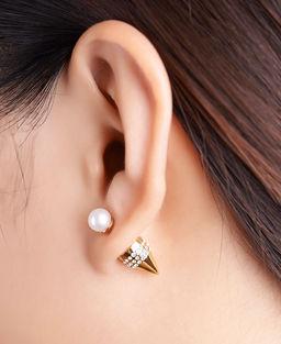 Gold Philosophy: ROCKET PEARL EARRINGS | Jewelry,Jewelry > Earrings -  Hiphunters Shop