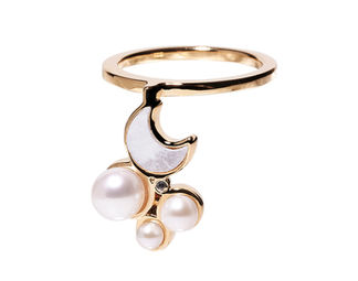 Gold Philosophy: MIDNIGHT CRESCENT RING | Jewelry,Jewelry > Rings -  Hiphunters Shop