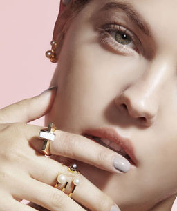 Gold Philosophy: Howlite Arc Ring | Jewelry,Jewelry > Rings -  Hiphunters Shop