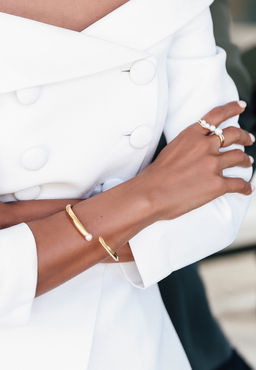 Gold Philosophy: Charlotte Bangle | Jewelry,Jewelry > Bracelets -  Hiphunters Shop