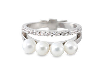 Gold Philosophy: Layered Pearl Ring / Small | Jewelry,Jewelry > Rings -  Hiphunters Shop
