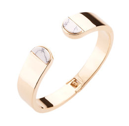 Gold Philosophy: Howlite Arc Cuff | Jewelry,Jewelry > Bracelets -  Hiphunters Shop