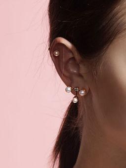 Gold Philosophy: Pearl Cubed Earrings   Jewelry,Jewelry > Earrings -  Hiphunters Shop