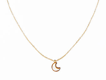 CRESCENT CHARM NECKLACE
