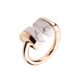 Gold Philosophy: Howlite Geometric Ring | Jewelry,Jewelry > Rings -  Hiphunters Shop