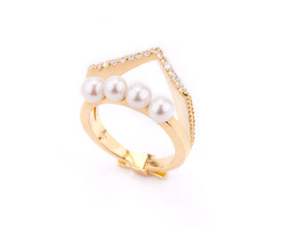 Gold Philosophy: TIARA PEARL RING | Jewelry,Jewelry > Rings -  Hiphunters Shop