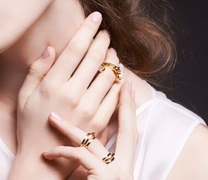 Gold Philosophy: CRESCENT CHARM RING | Jewelry,Jewelry > Rings -  Hiphunters Shop