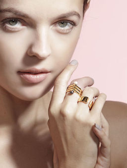 Gold Philosophy: Diamond Arc Ring | Jewelry,Jewelry > Rings -  Hiphunters Shop