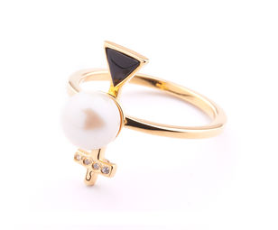 Gold Philosophy: MERCURY PEARL RING - Hiphunters Shop