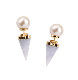 Gold Philosophy: Blue Lace Cupola - Pearl Earrings - Hiphunters Shop