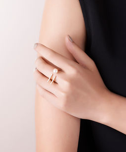 Gold Philosophy: PARALLEL PEARL RING | Jewelry,Jewelry > Rings -  Hiphunters Shop