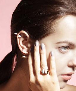 Gold Philosophy: Howlite Cupola Earrings | Jewelry,Jewelry > Earrings -  Hiphunters Shop