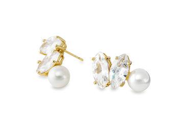 Gold Philosophy: Dangled Pearl Earrings | Jewelry,Jewelry > Earrings -  Hiphunters Shop