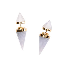 Gold Philosophy: Blue Lace Cupola Earrings - Hiphunters Shop